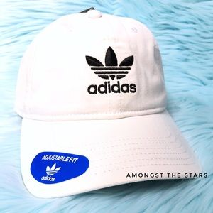 Adidas Trefoil White Relaxed Strapback Dad Hat Cap